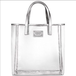 Michael Kors Clear And Silver Tote